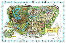 1962 Disneyland Map REPRODUCTION POSTER 24 X 36 Inches Looks beautiful Nostalgia - $19.94