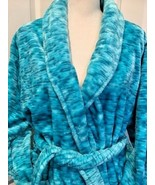 ADRIENNE VITTADINI Women's Multi Greens Deluxe Plush Bathrobe Soft  OS EUC - $34.00