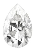Forever One Pear 10x7mm 2ct DEF Certified Charles and Colvard - €627,02 EUR