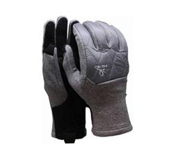 Head Mens Hybrid Text Gloves Touchscreen Grey/Black, Sz Small - $12.86