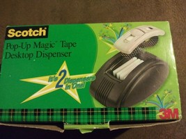 Scotch Pop-Up Magic Tape Dispenser Weighted Desktop w/ Wrist Strap NIB - $25.79