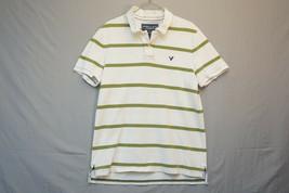 b1e766a8 American Eagle Heavy Cotton Polo Shirt, White, Striped, Men's