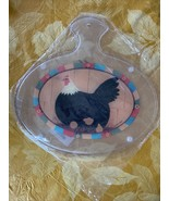 Rooster Cutting Board Hot Plate Trivet Tempered Plastic Sealed Package B... - $22.99