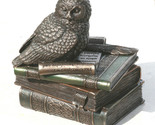 Owl of Athena Statue Sculpture Symbol of Wisdom Stash Box Bronze Finish 4.7 in