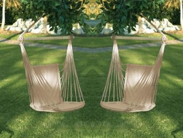 Garden Swing Chair Padded Cotton Use Indoors or Outdoor Set of 2 - $77.95