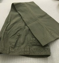 J. Crew Green Chino Low Fit Wide Leg  Pants size 8 inseam 32 Khaki - $10.50