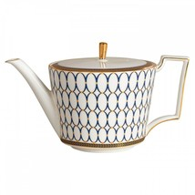 Wedgwood Renaissance Gold Teapot 2.1 pt New with Tag # 5C102102211 - $204.93