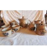 Pfaltzgraff Folk Art Tea for $ - Pot, Cups & Saucers, Cream & Sugar, Honey - $54.00