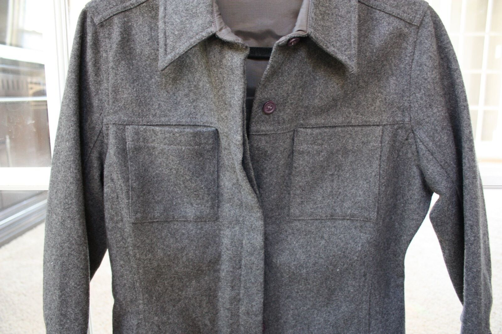 Express World Gray Wool Jacket Size 7/8 Brand New w/ Tags Style 1021