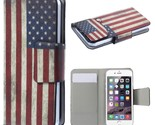 Universal Suction Cup Leather Shell for iPhone SE 5s 5 etc - Retro USA Flag