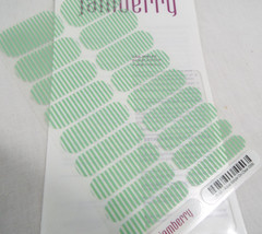Jamberry Aqua Stripe On Clear 0316 26A6 Nail Wrap Full Sheet - $16.82