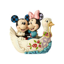 "5.38"" ""Lovebirds"" Mickey & Minnie in Swan - Jim Shore Disney Traditions"