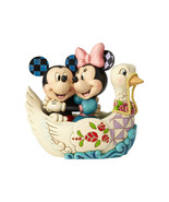 "5.38"" ""Lovebirds"" Mickey & Minnie in Swan - Jim Shore Disney Traditions - $64.34"