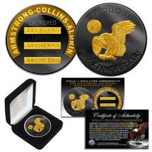 Apollo 11 50th Anniv. Commemorative Space-Flown 1 OZ Coin BLACK RUTHENIU... - $23.33