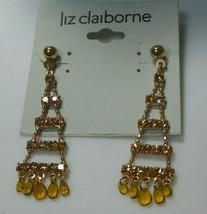 Liz Claiborne Rhinestone Dangle Earrings - $14.84