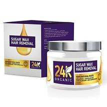 24K Organic Hair Removal Sugar Wax, A Natural Epilator And Exfoliator DIY Waxing