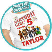Roblox Birthday Shirt Custom Name and Age Personalized Family Bday Shirts Tees - $12.00