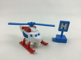 Geotrax Hospital Helicopter with Sign Toy Lot Push Non Motorized Fisher ... - $14.80