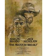 THE MISSOURI BREAKS movie poster MARLON BRANDO JACK NICHOLSON 24X36 drama - $17.00