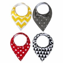 Baby Bandana Drool Bibs,4-Pack Gift Set for Drooling and Teething,Unisex... - $9.91