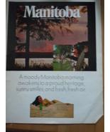 Vintage Manitoba Canada's Friendly Province Print Magazine Advertisement... - $4.99