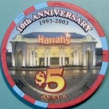 $5 Casino Chip. Harrahs, Joliet, IL. W03. - $5.99