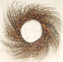"22"" Primitive Mix Pip & Twig Wreath Fall Autumn  - $59.99"