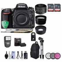 Nikon D750 24.3MP 1080P DSLR Camera 128GB - 16PC Kit - Nikon 50mm f/1.8D - $2,489.85