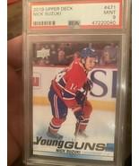19-20 Upper Deck Young Guns Nick Suzuki #471 Canadiens PSA 9 MINT - SUPE... - $236.75