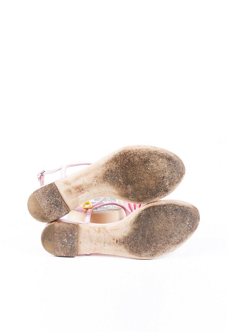 Chanel Satin Bow Thong Sandals SZ 36.5