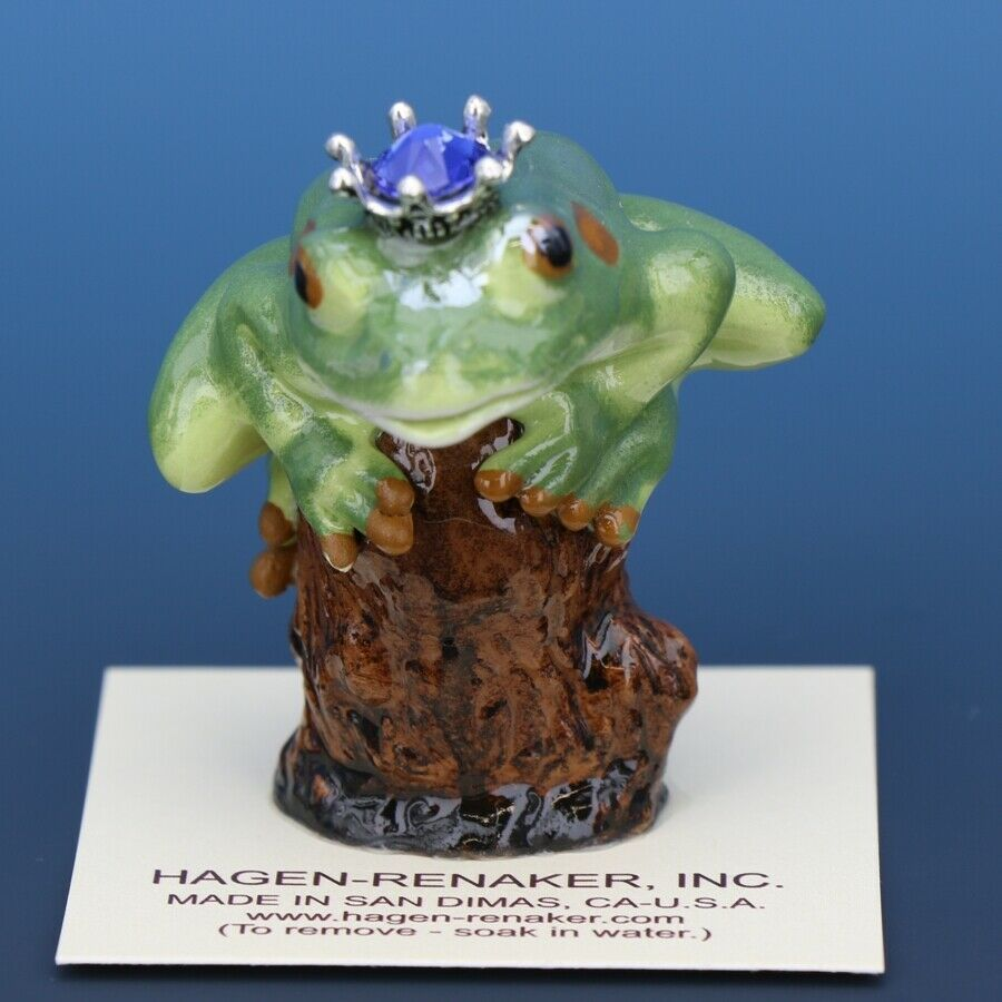 Birthstone Tree Frog Prince September Sapphire Miniatures by Hagen-Renaker
