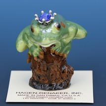Birthstone Tree Frog Prince September Sapphire Miniatures by Hagen-Renaker image 1