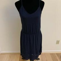 LOFT Women's Dress Size S Navy Spaghetti Strap Eyelet Hem NWT - $19.79