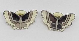 Vintage LAUREL BURCH PAPILLON Butterfly Silver Tone Pierced Earrings EUC - $22.09