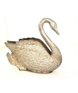 Vintage Napkin Holder Swan Silverplate Godinger 1984 EP Zinc Italy shabby  - $19.75