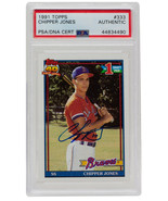 Chipper Jones Signed 1991 Topps #333 Atlanta Braves Baseball Card PSA/DNA - $184.29