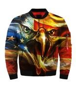 2019 Golden Flag Eagle Cool American flag eagle fashion jacket size S-5XL - $81.99