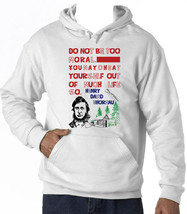 HENRY THOREAU MORAL QUOTE - NEW COTTON WHITE HOODIE - $38.05