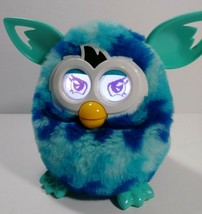 Hasbro Furby Boom 2012 Teal & Blue Waves Interactive Talking Toy TESTED ... - $23.36