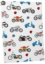 """Pingo World 0722QA54PG4 """"Motorcycles Collage Children Kids"""" Gallery Wrapped Canv - $43.51"""