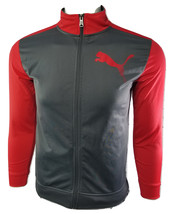 Puma Sport Lifestyle Boys Red,Gray Size L Full Zip Up Polyester Jacket - $24.00