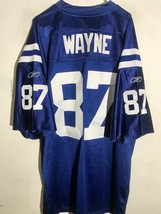 Reebok Authentic NFL Jersey Indianapolis Colts Reggie Wayne Blue sz 58 - $79.19