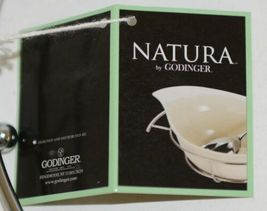 Godinger 6387 Natura 11 By 16 Inch White Porcelain Serving Tray With Rack image 5