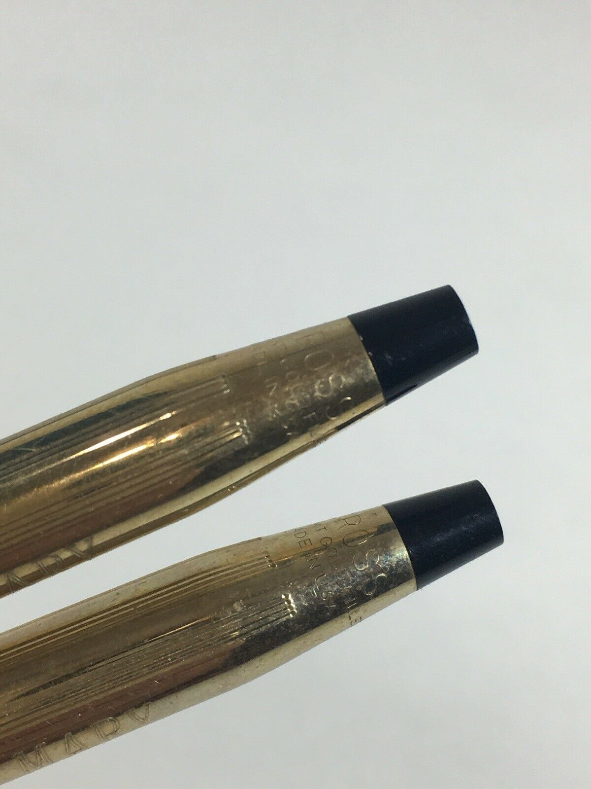 "Vintage Cross Pen And Pencil Set 1/20th 10k Gold Filled Engraved ""mary"" image 2"