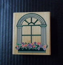 Rubber Stampede Stamp Stately Window Box Z477-H Vintage 1993 Flowers  - $5.54