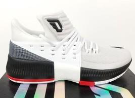 pretty nice 77cf2 eab04 Men  39 s Adidas Dame 3 RIP City Damian Lillard White Basketball Shoes BB826