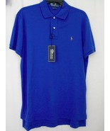 Ralph Lauren Polo Shirt Medium Royal Blue Pima Interlock NEW Tags NWT MS... - $64.34