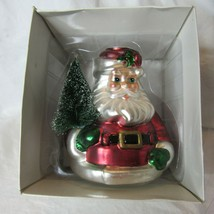 Dept 56 Santa Claus Mercury Glass Taper Candle Holder With Box - $34.99