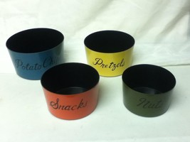 Vintage, 4-pc Children, Colorful, Nesting Snack Containers or TV Bowls - $12.30