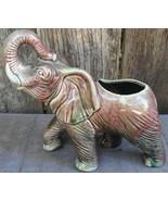 Elephant Trunk Up Purple Green Ceramic Flower Vase - $24.99